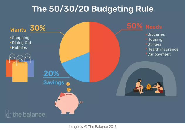 Budgeting graph for 50/30/20