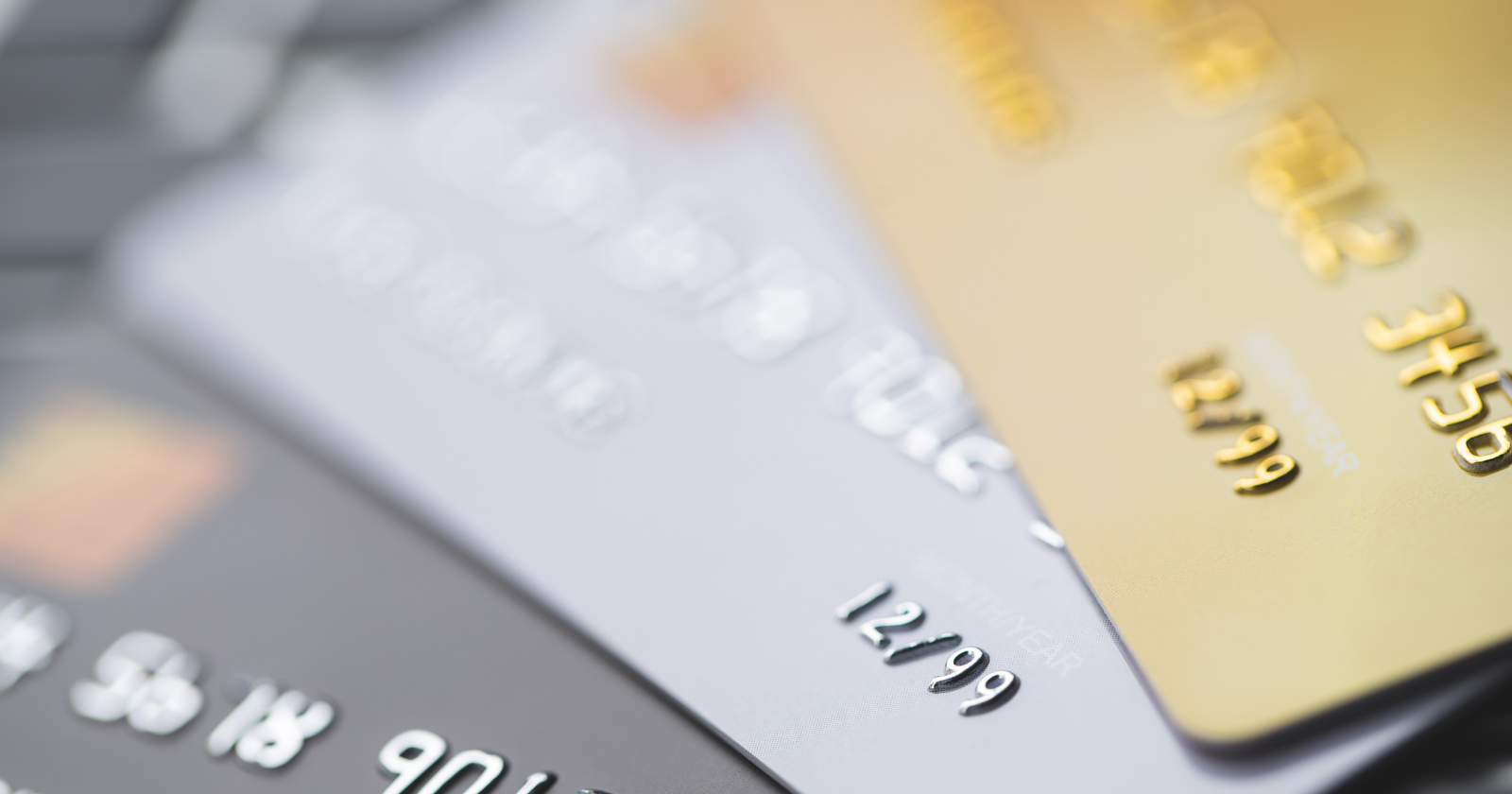 credit cards spread out